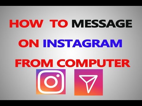 How to message someone on instagram pc